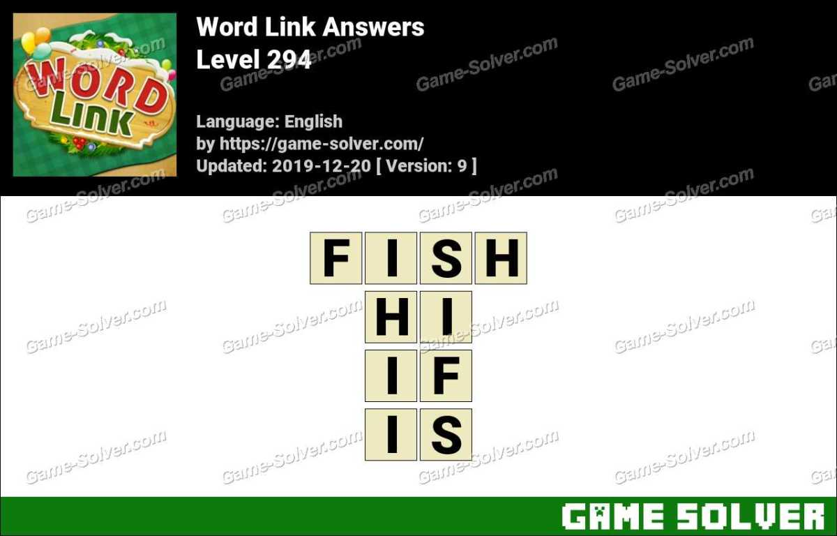 Word Link Level 294 Answers