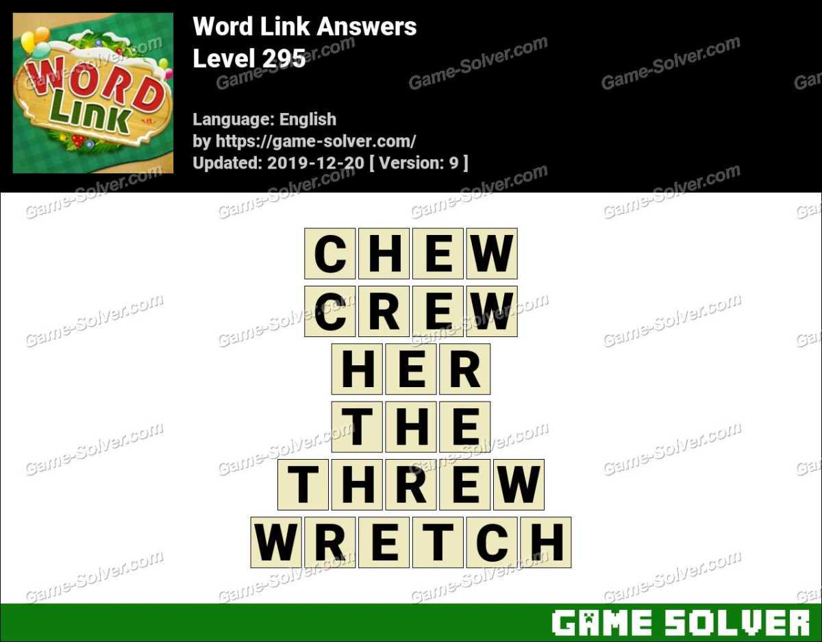 Word Link Level 295 Answers