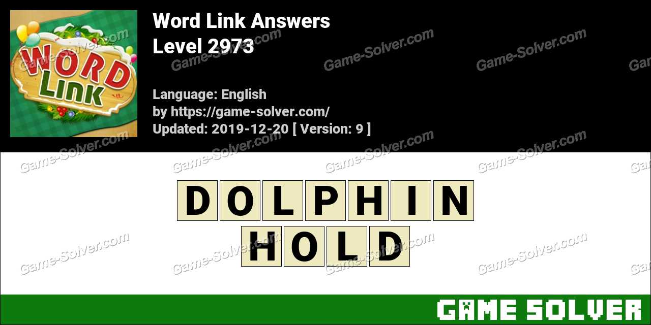 Word Link Level 2973 Answers