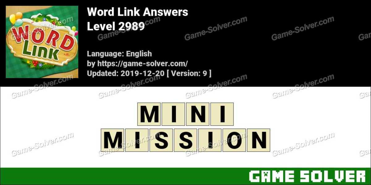 Word Link Level 2989 Answers