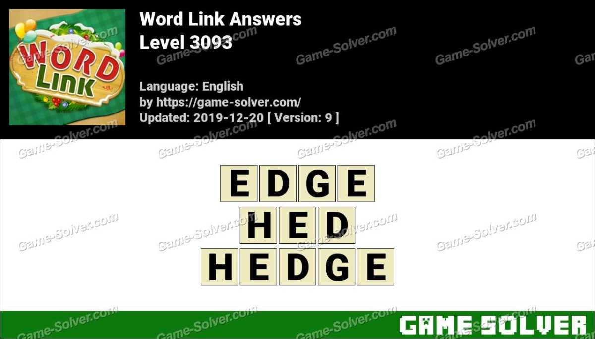 Word Link Level 3093 Answers