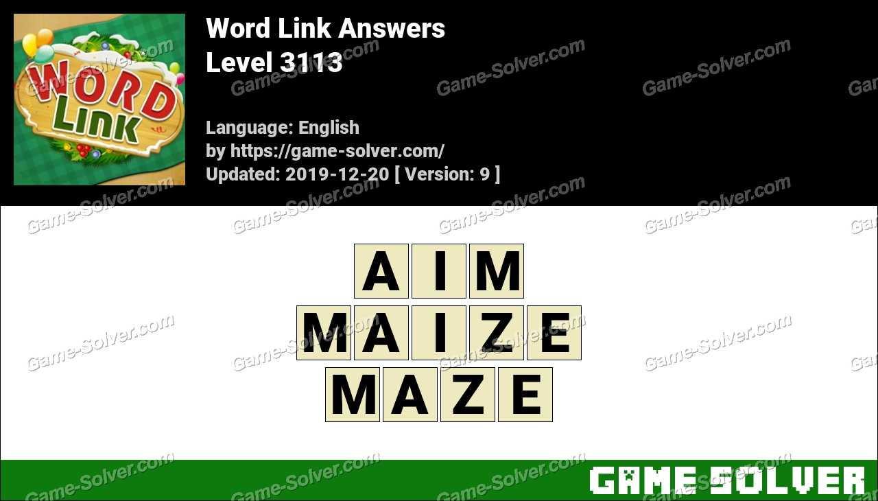 Word Link Level 3113 Answers