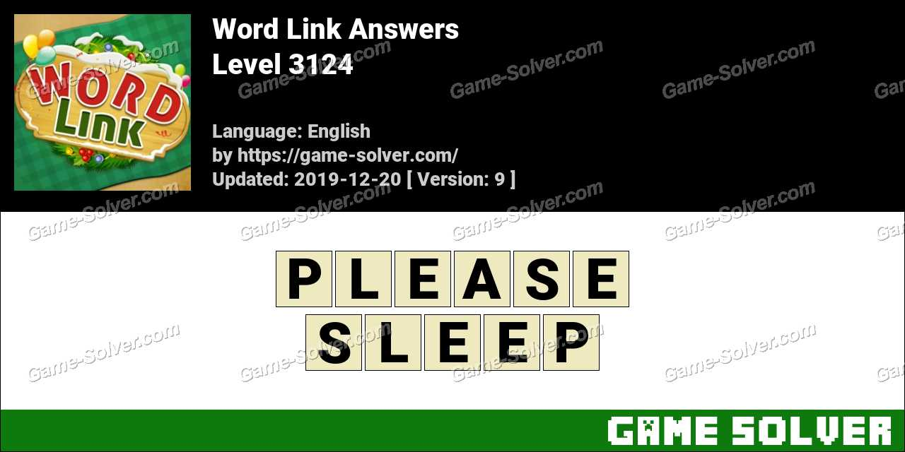 Word Link Level 3124 Answers