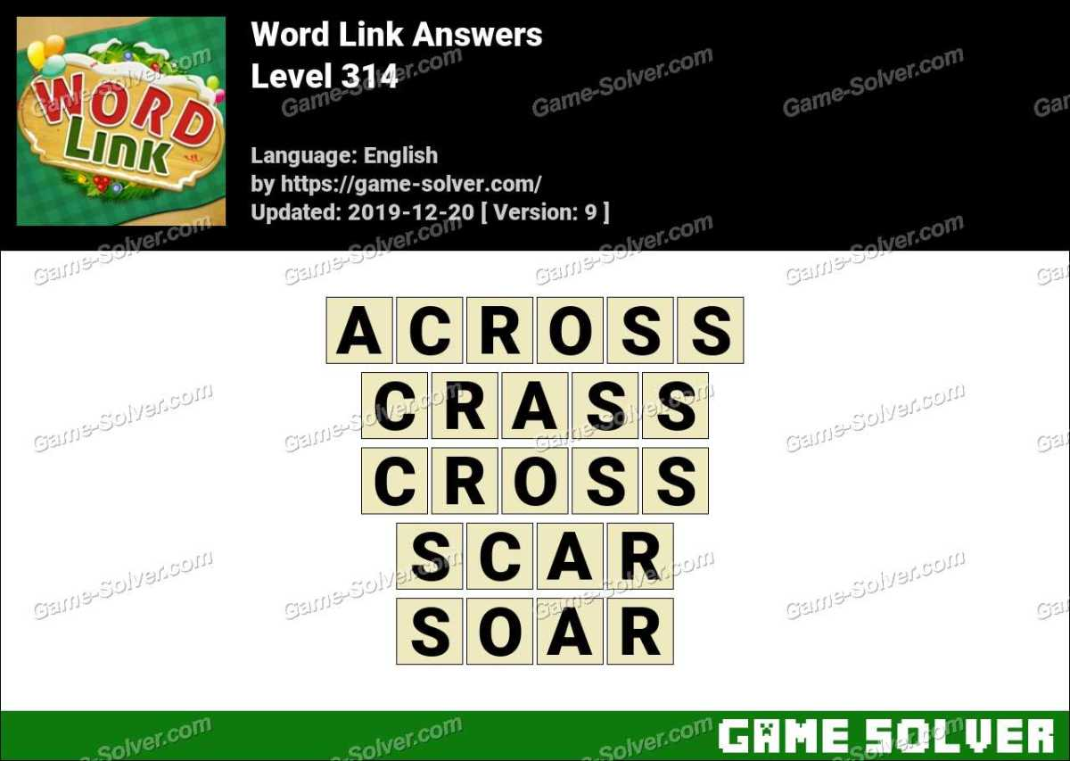 Word Link Level 314 Answers