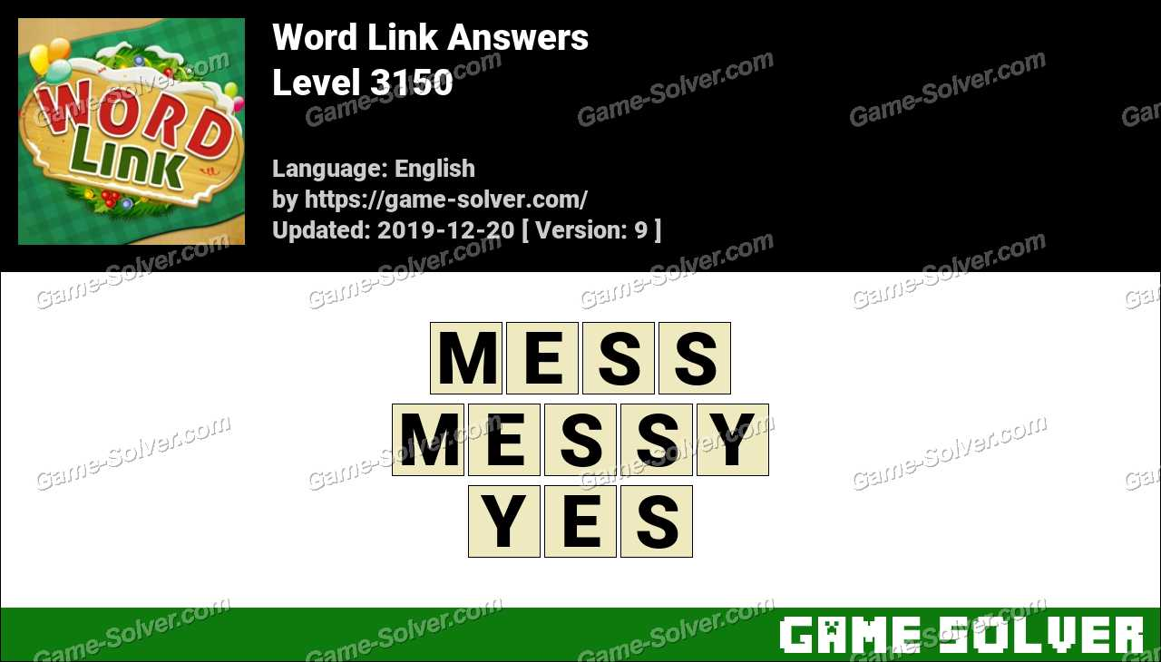 Word Link Level 3150 Answers