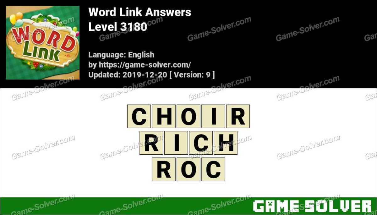 Word Link Level 3180 Answers
