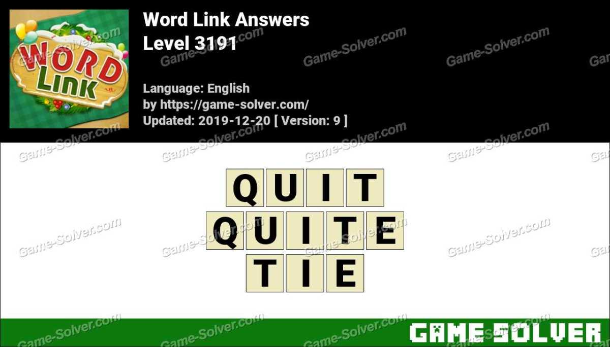 Word Link Level 3191 Answers