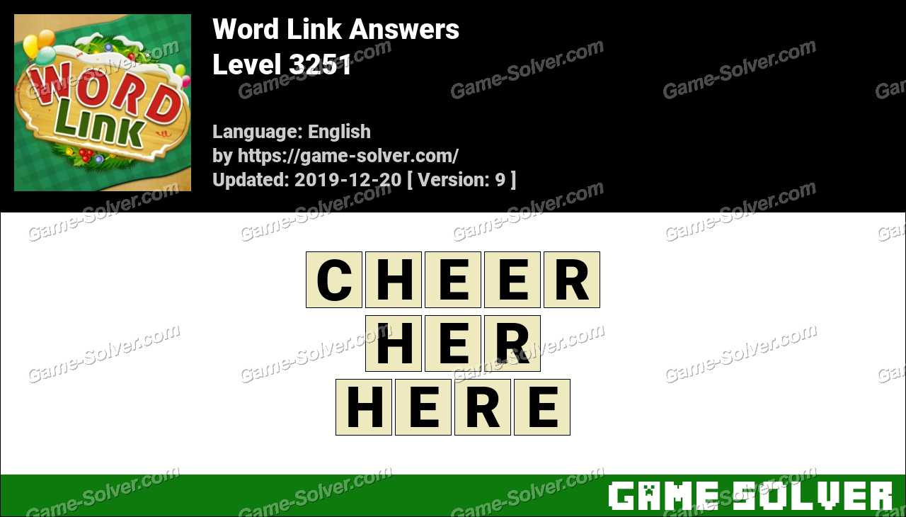 Word Link Level 3251 Answers