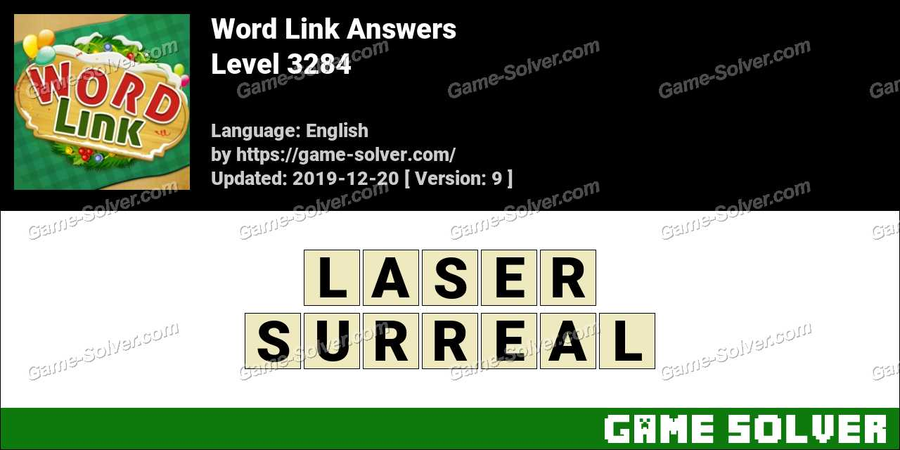 Word Link Level 3284 Answers