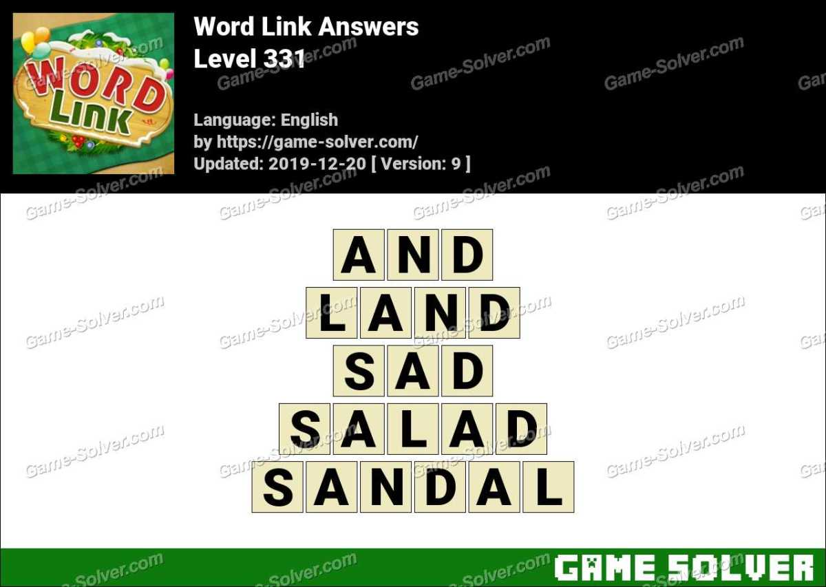 Word Link Level 331 Answers