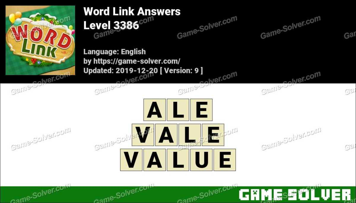 Word Link Level 3386 Answers