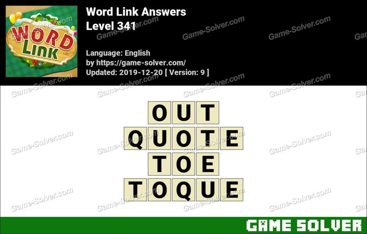 Word Link Level 341 Answers