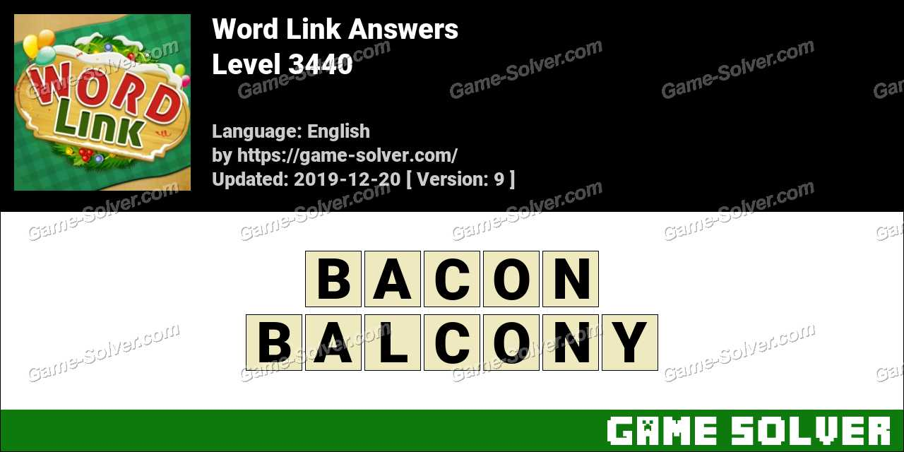 Word Link Level 3440 Answers