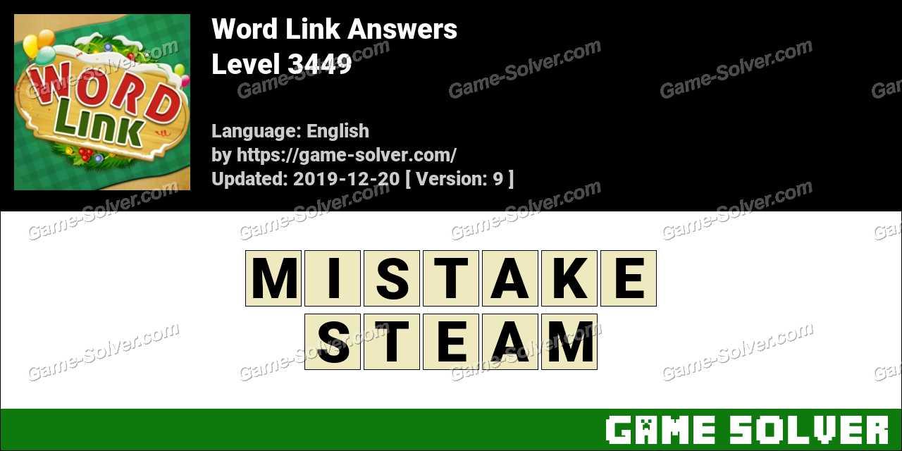 Word Link Level 3449 Answers