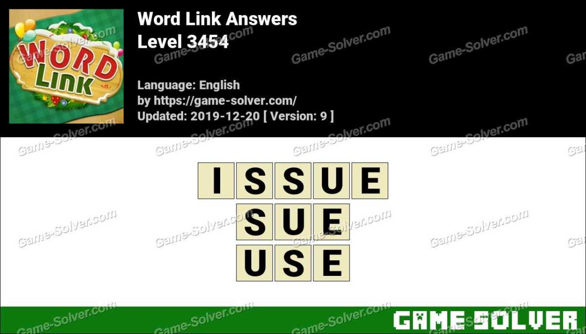 Word Link Level 3454 Answers