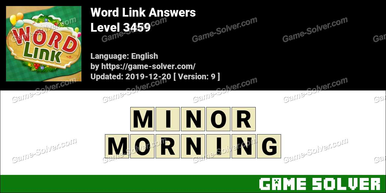 Word Link Level 3459 Answers