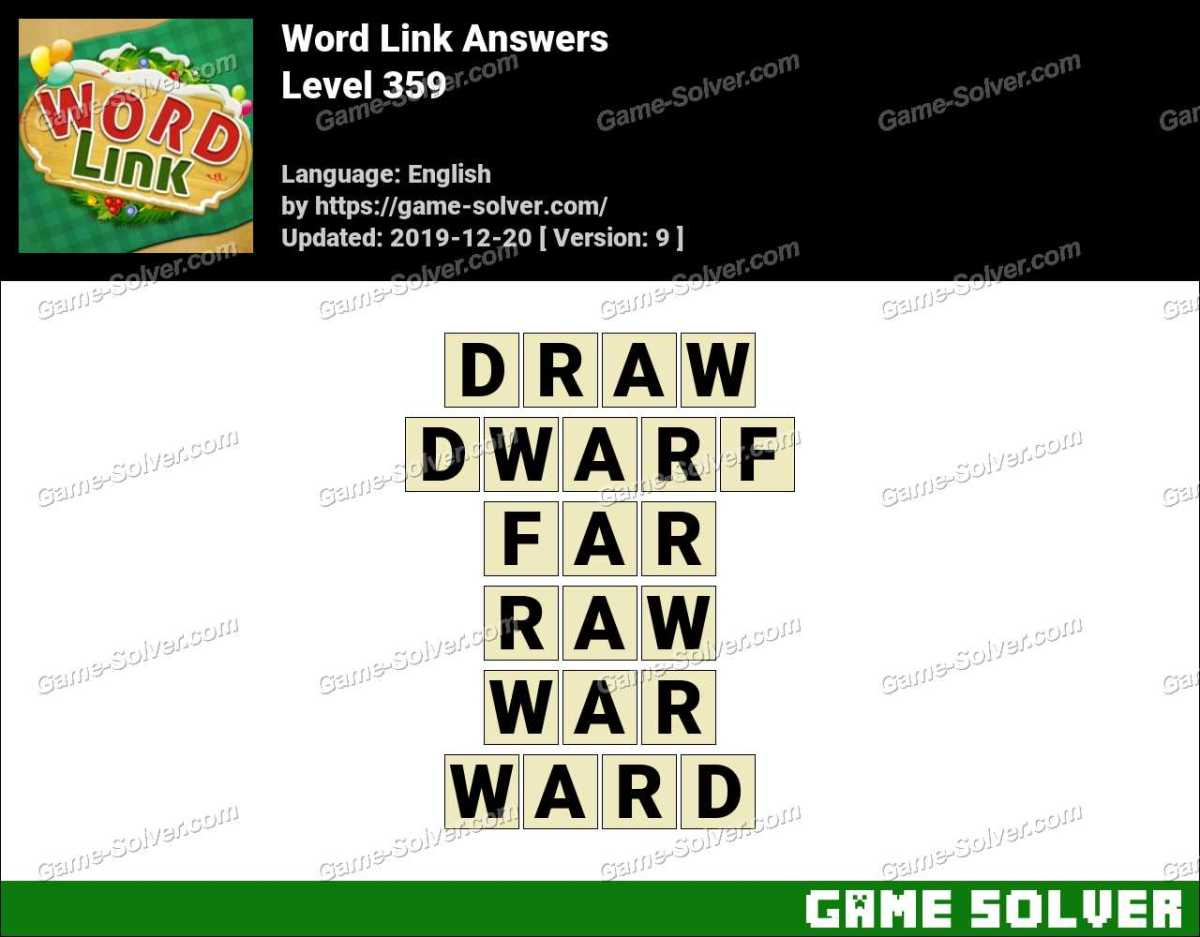 Word Link Level 359 Answers