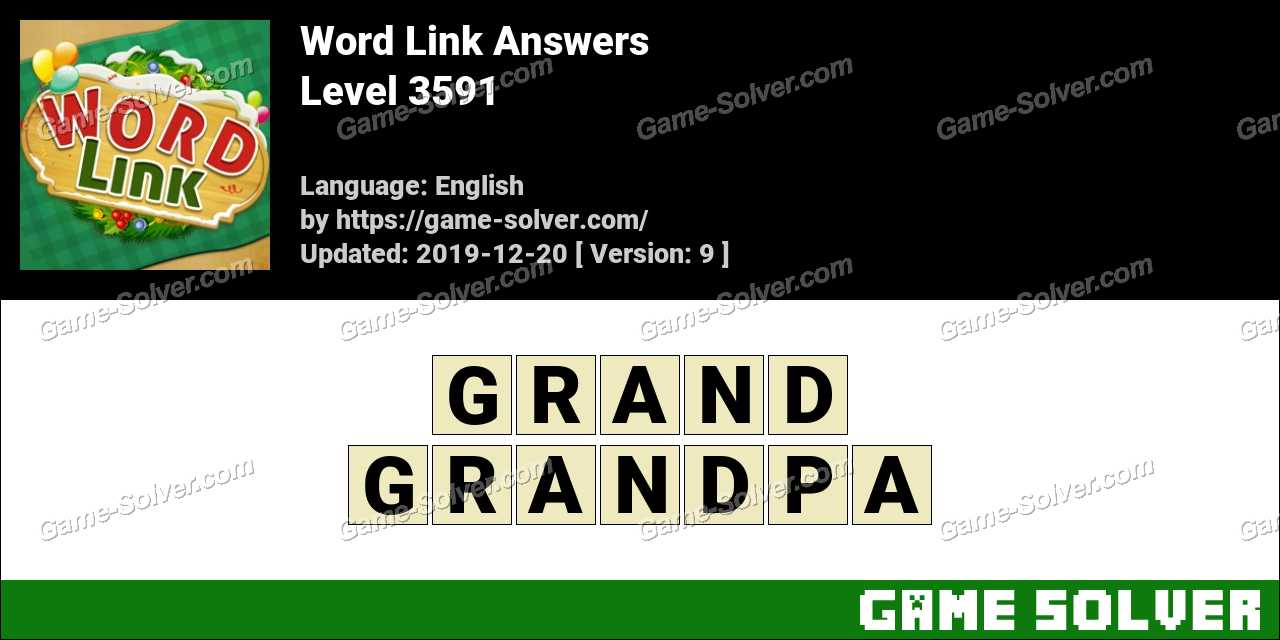 Word Link Level 3591 Answers