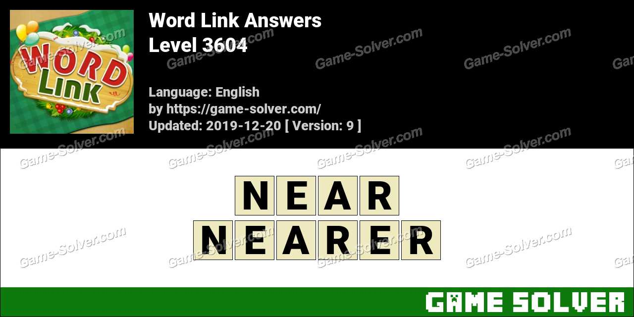 Word Link Level 3604 Answers