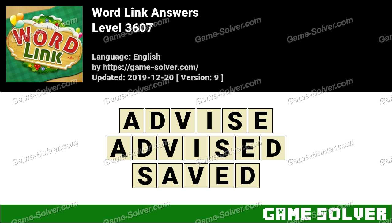 Word Link Level 3607 Answers