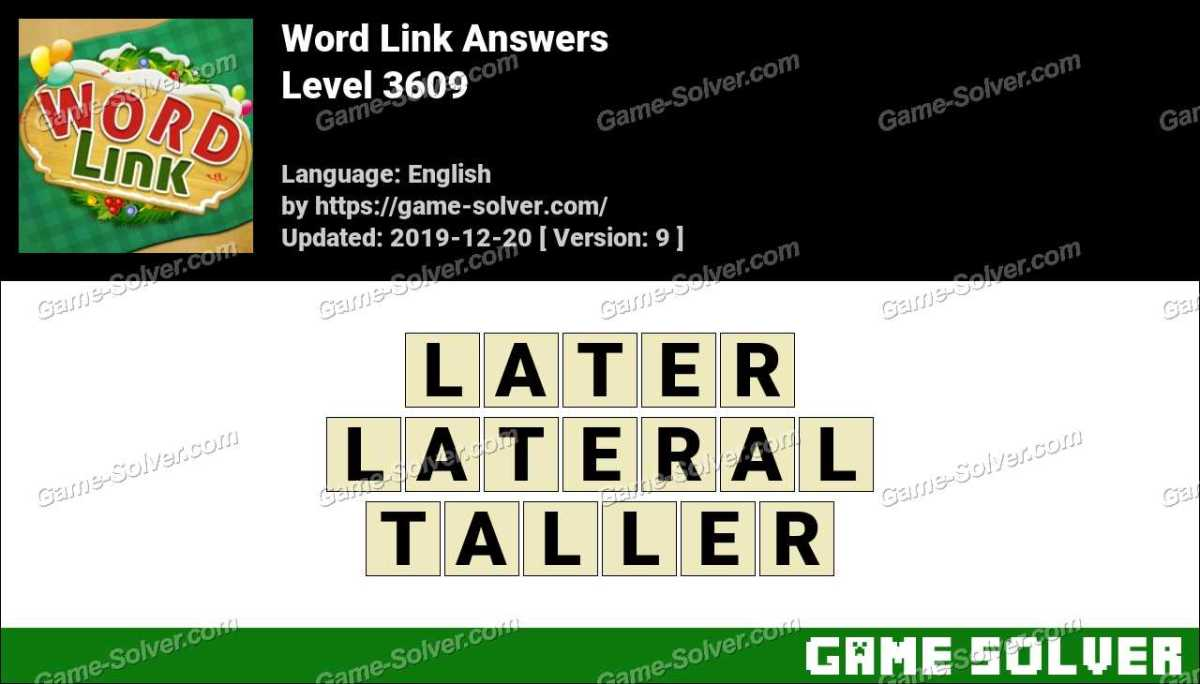 Word Link Level 3609 Answers
