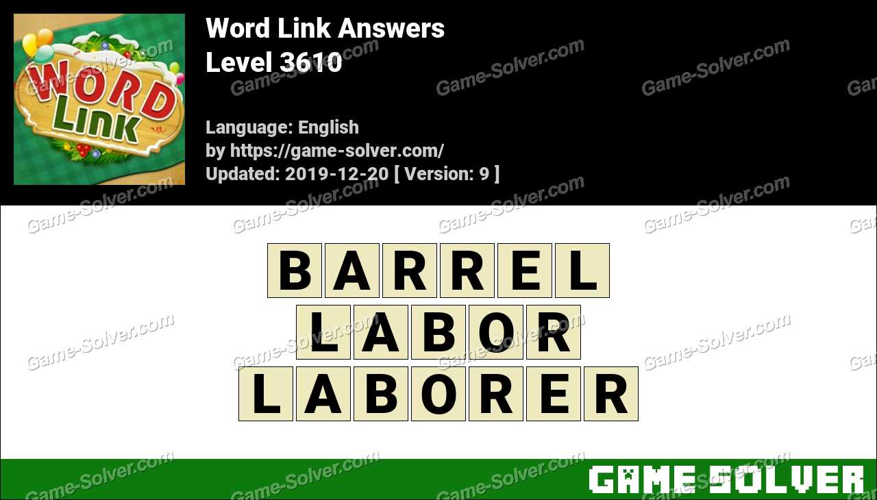 Word Link Level 3610 Answers