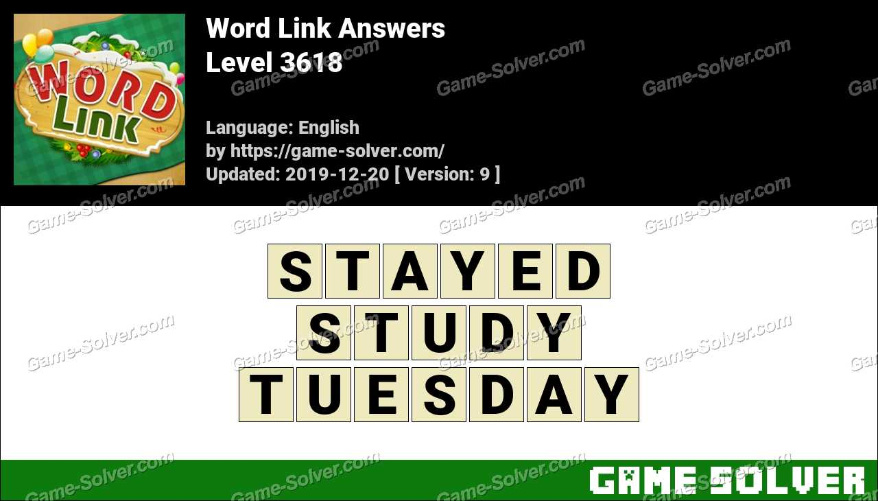 Word Link Level 3618 Answers