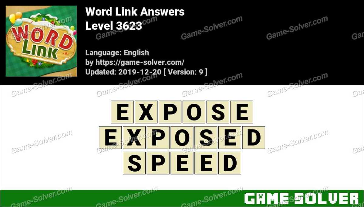 Word Link Level 3623 Answers