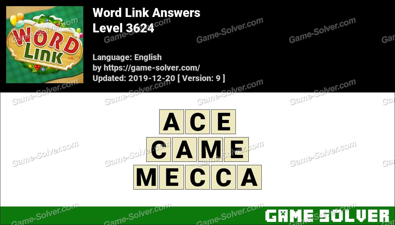 Word Link Level 3624 Answers
