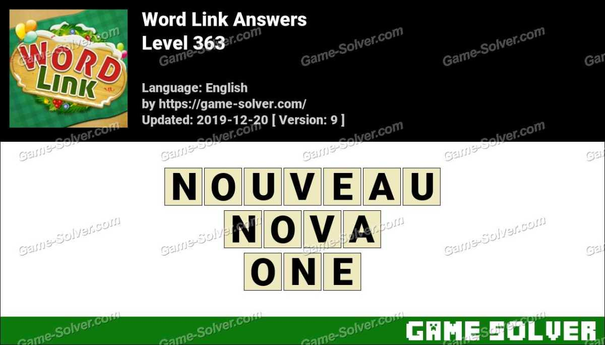 Word Link Level 363 Answers