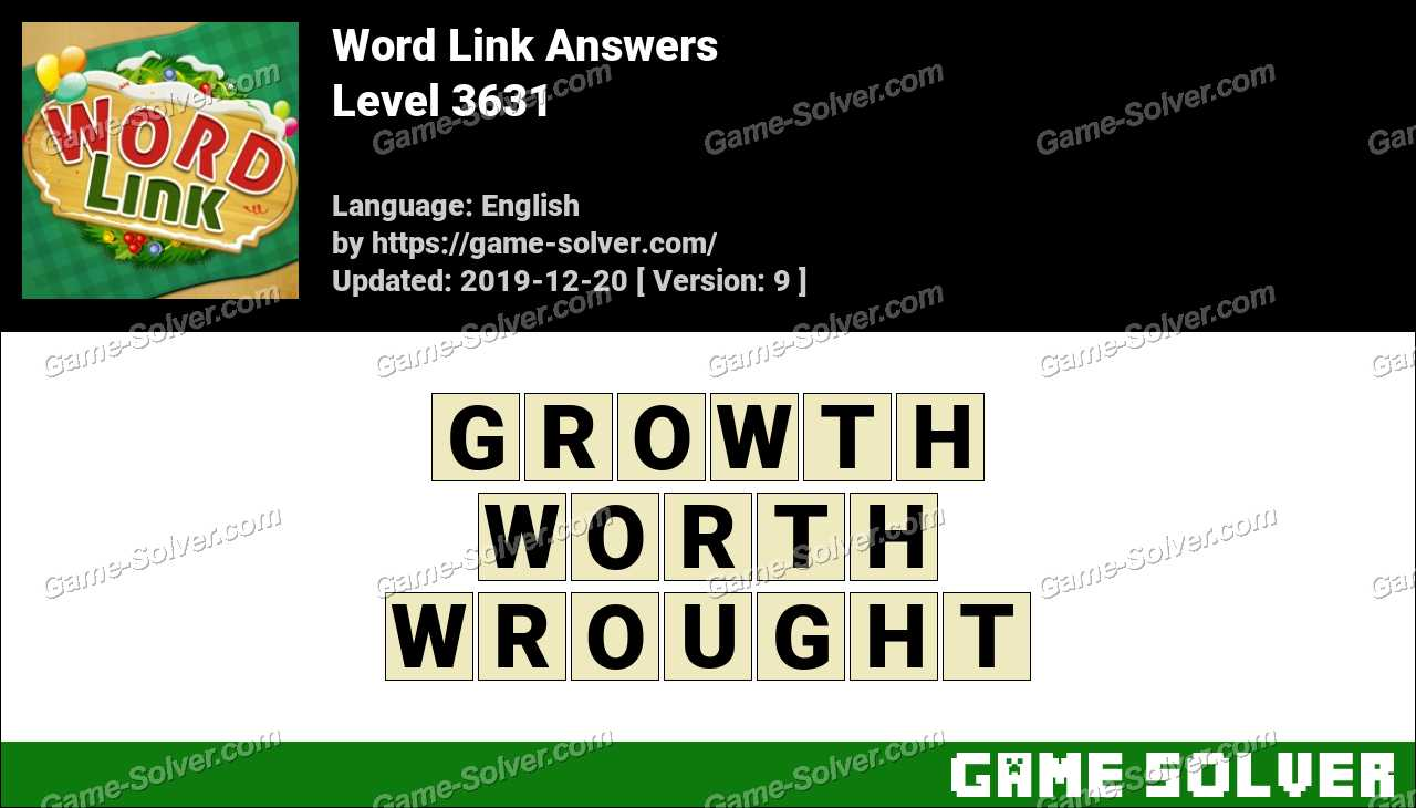 Word Link Level 3631 Answers