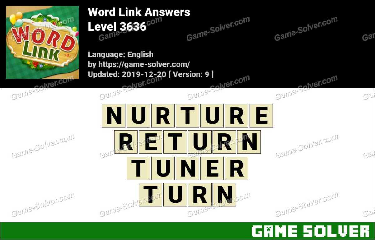 Word Link Level 3636 Answers