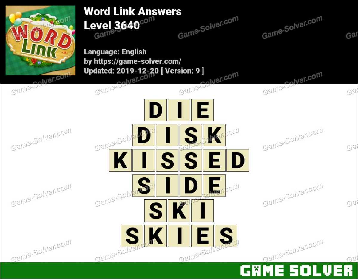 Word Link Level 3640 Answers