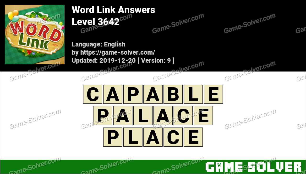 Word Link Level 3642 Answers