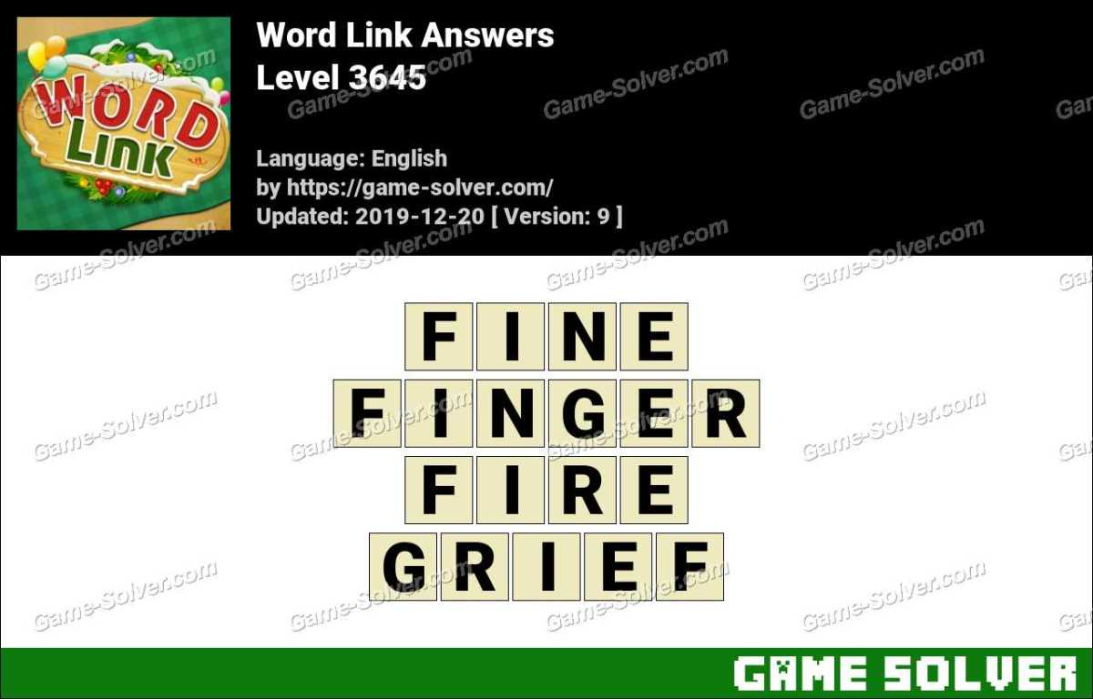 Word Link Level 3645 Answers