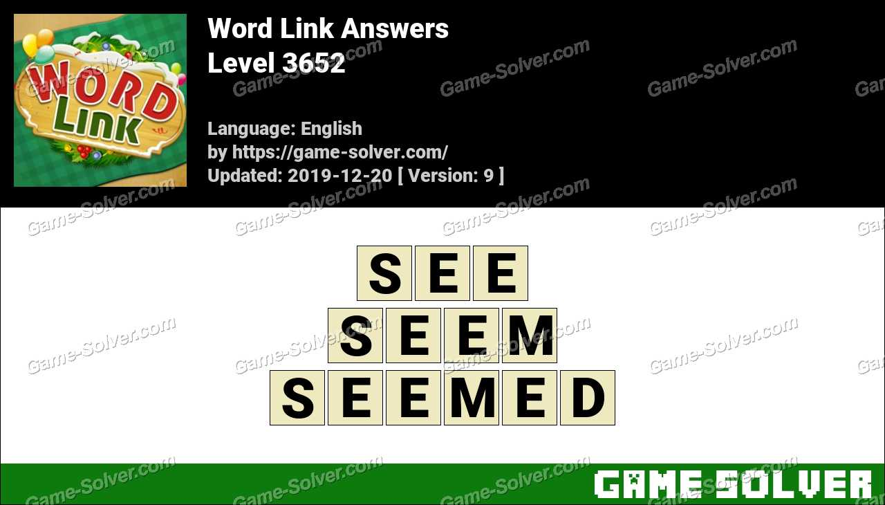 Word Link Level 3652 Answers
