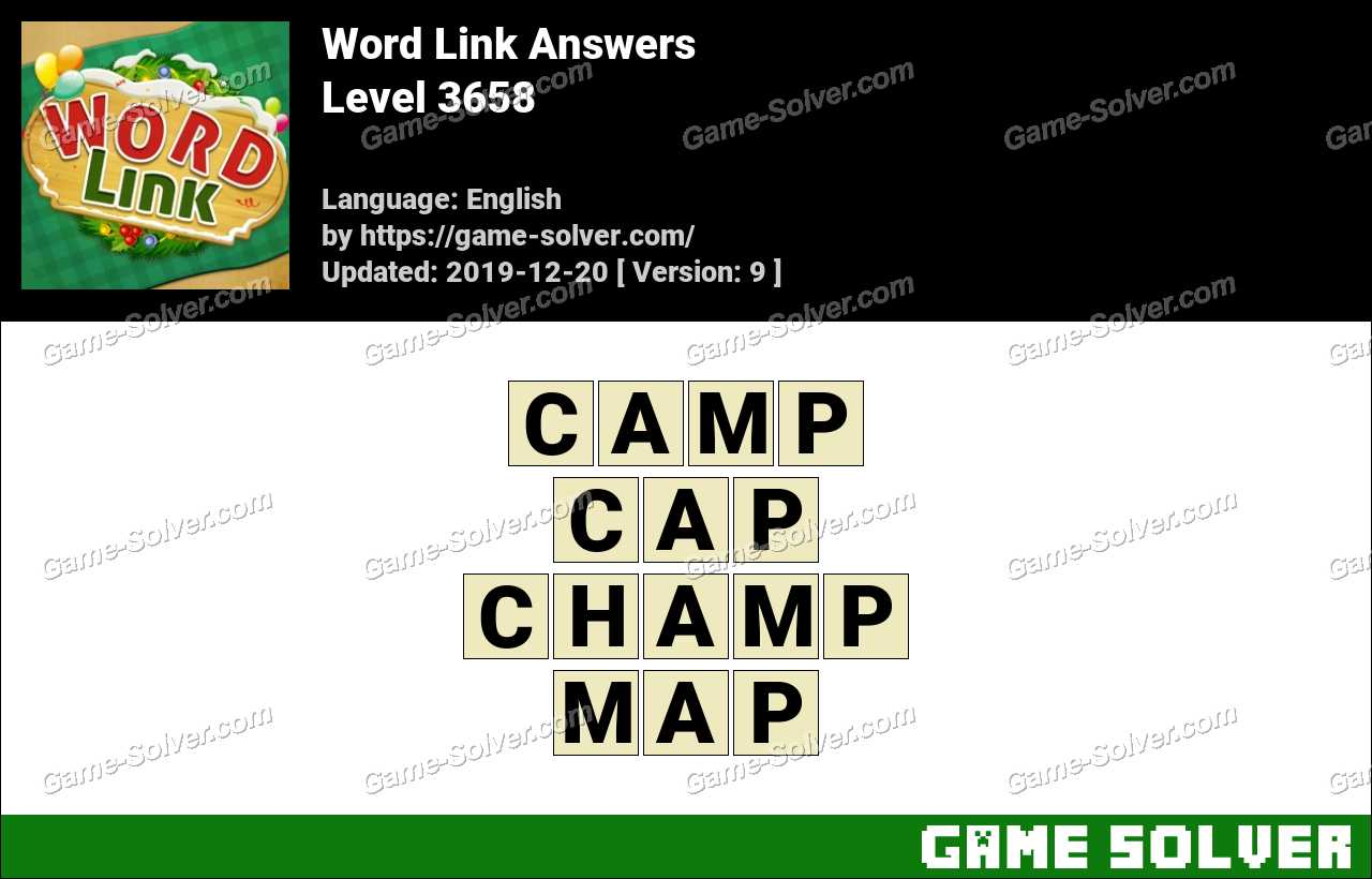 Word Link Level 3658 Answers