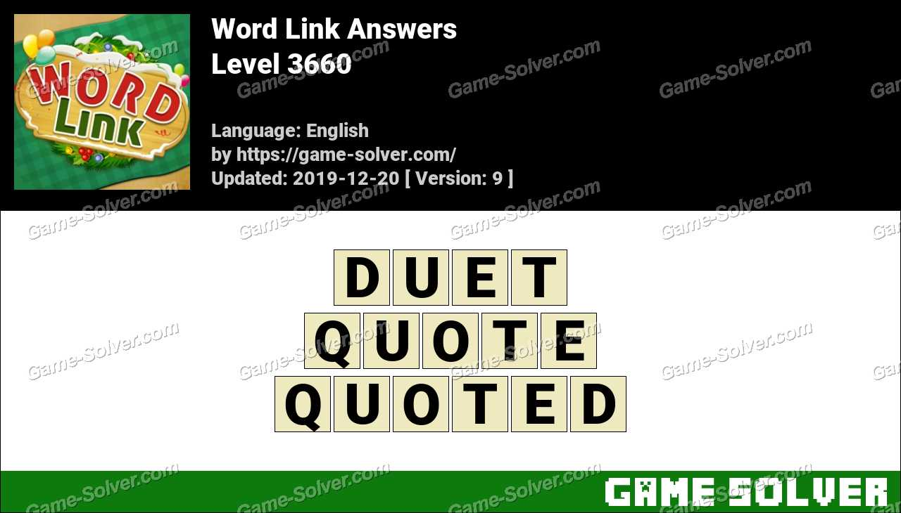 Word Link Level 3660 Answers