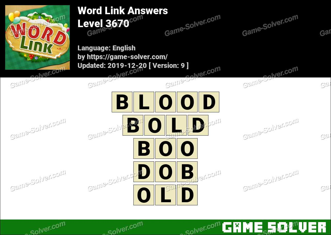 Word Link Level 3670 Answers