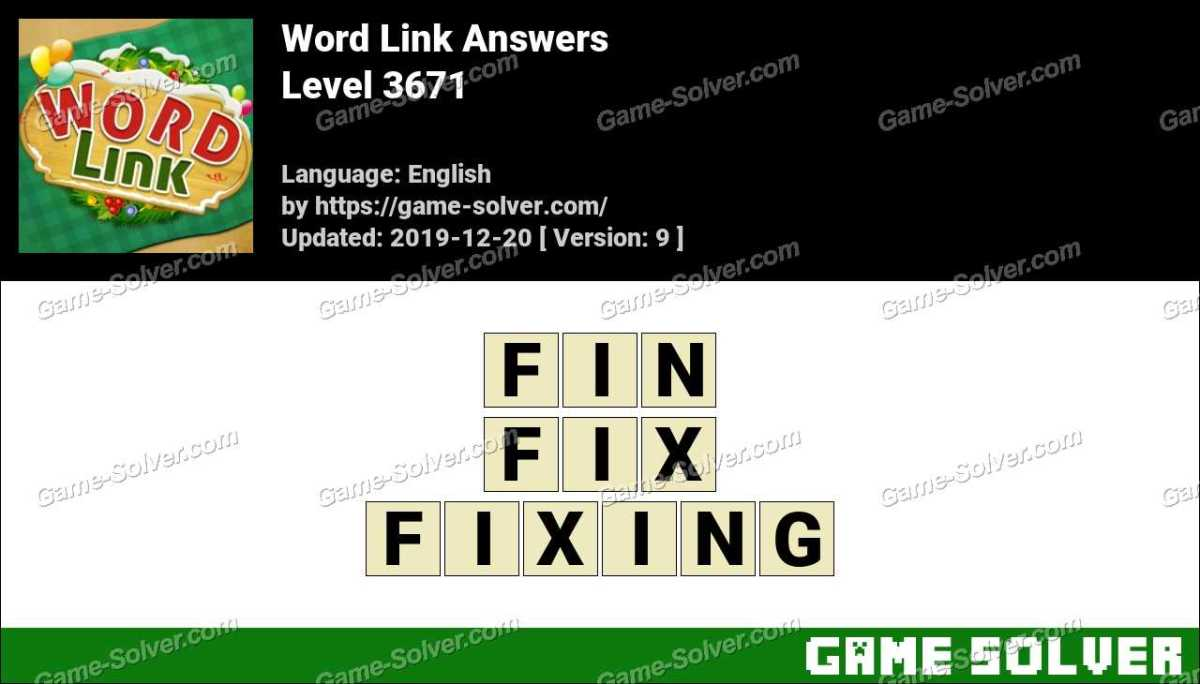Word Link Level 3671 Answers