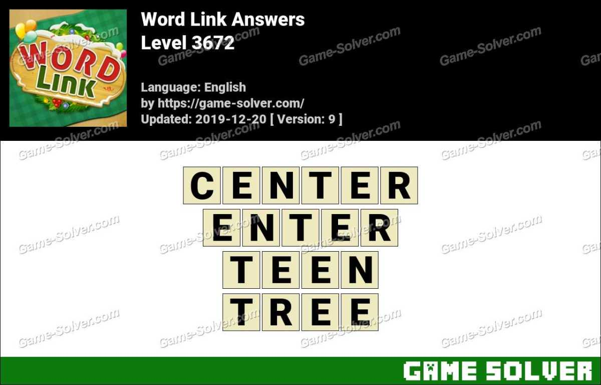 Word Link Level 3672 Answers