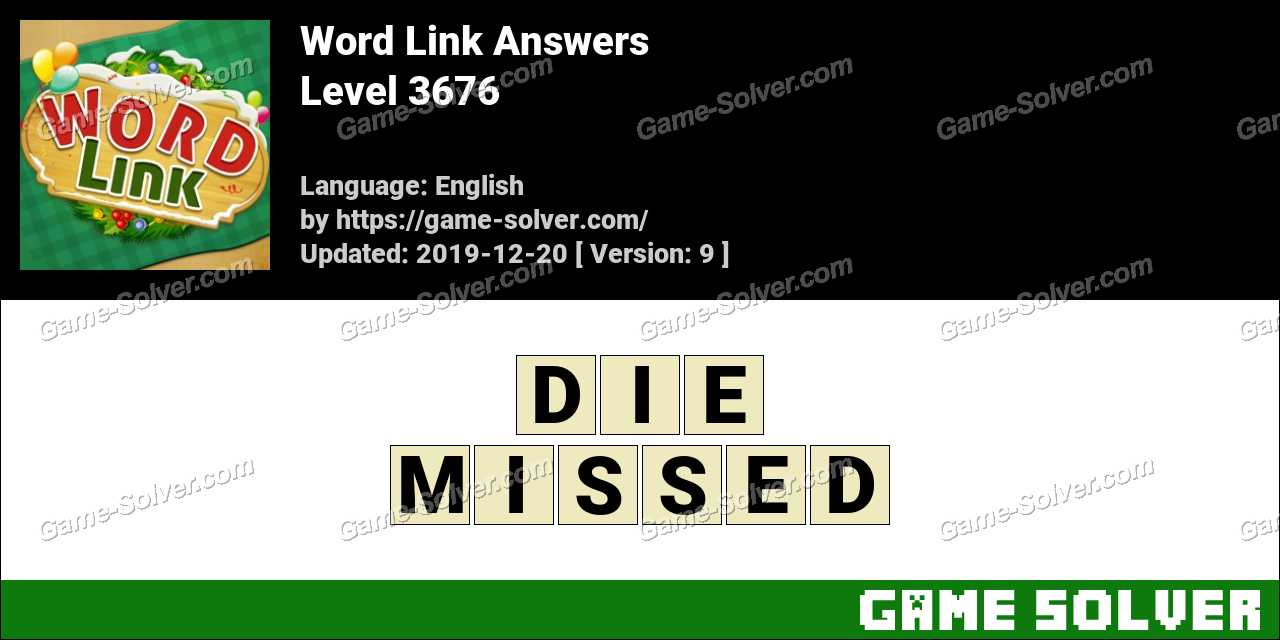 Word Link Level 3676 Answers