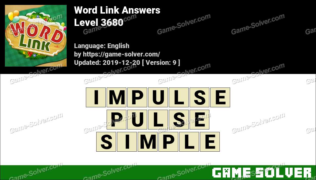 Word Link Level 3680 Answers