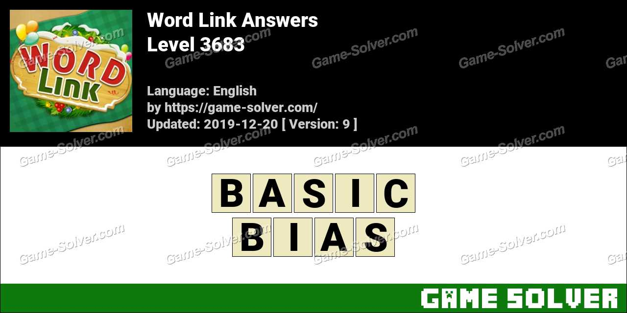 Word Link Level 3683 Answers