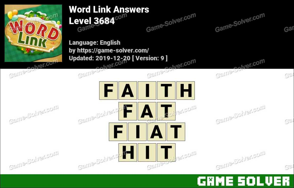 Word Link Level 3684 Answers