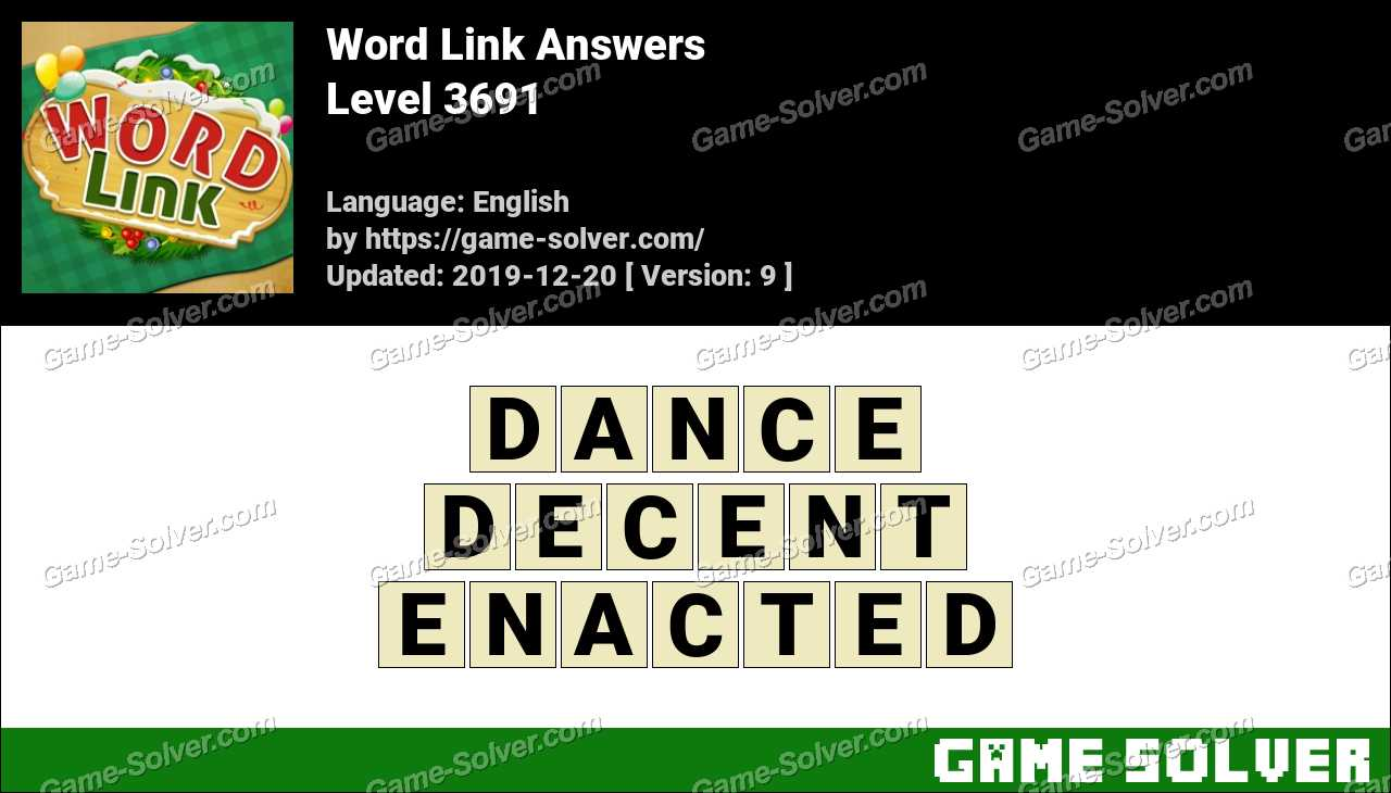 Word Link Level 3691 Answers