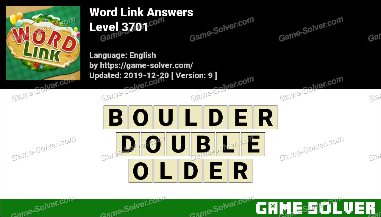 Word Link Level 3701 Answers