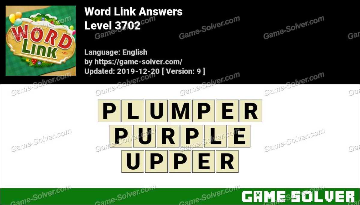 Word Link Level 3702 Answers
