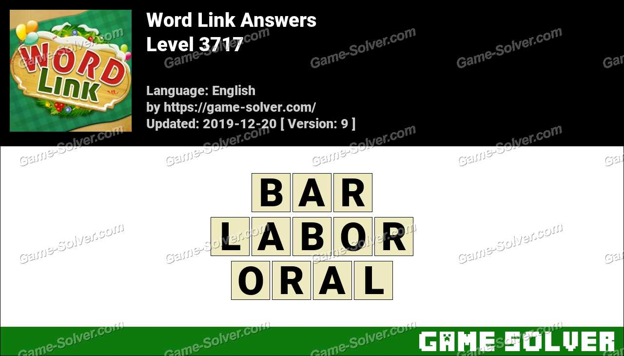 Word Link Level 3717 Answers