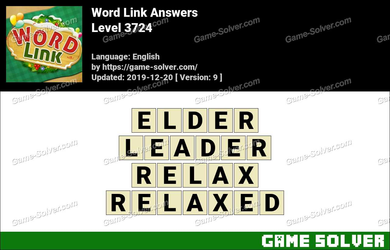 Word Link Level 3724 Answers